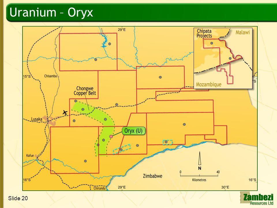 Slide 20 Uranium – Oryx