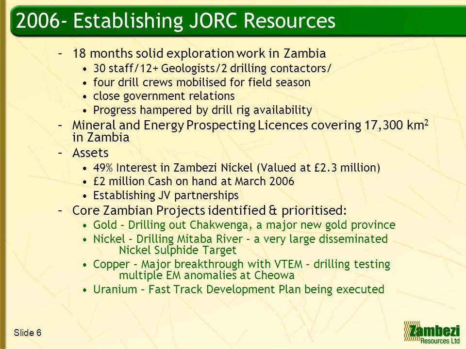 Slide 17 Nickel – ZRL Retains a 49% Interest in ZNI