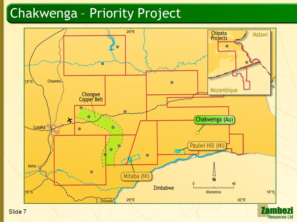 Slide 8 Chakwenga Best Trench Results Chakwenga – A new gold camp beckons