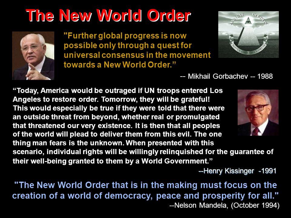 A One-World Government.A One-World Government. A One-World Government.