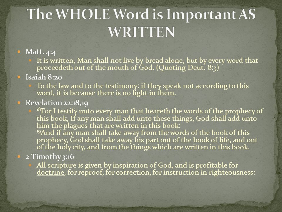 Without doctrine, one cannot specifically understand what the Word of God means and as such, when seemingly subtle nuances are encountered, they can generally be dismissed as meaning essentially the same thing.