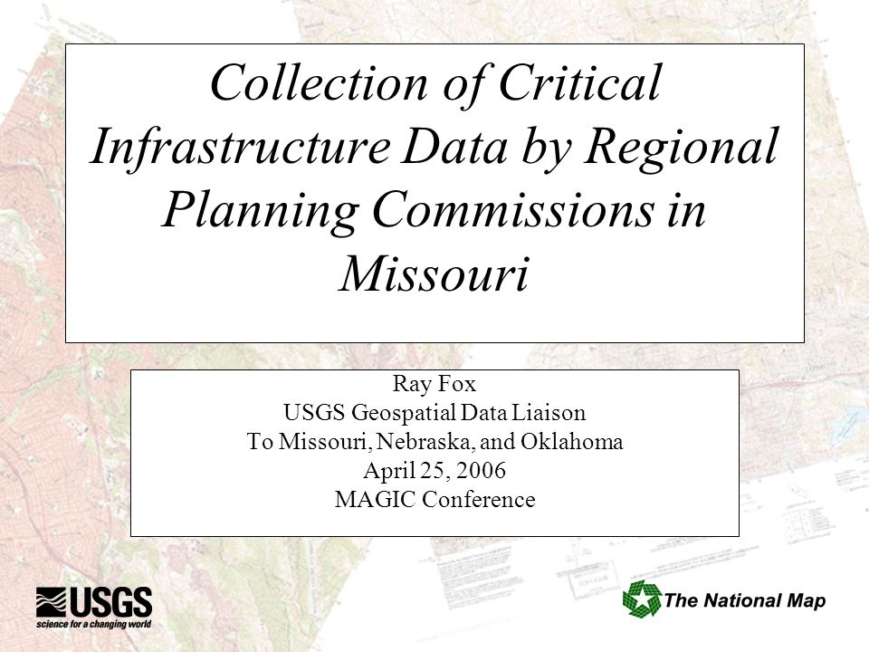 MSDIS CAP Grant The University of Missouri's Spatial Data Information Service (MSDIS) received a Federal Geographic Data Committee (FGDC) Cooperative Agreement Grant in September, 2004.