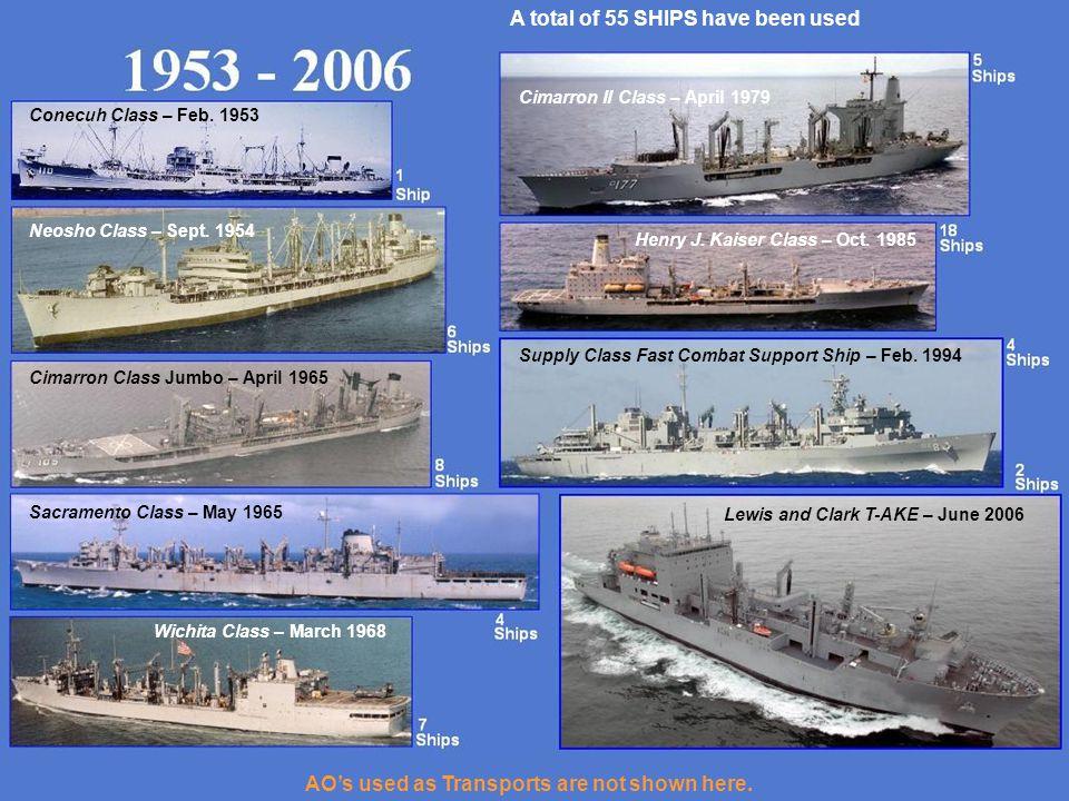 Conecuh Class – Feb.1953 Neosho Class – Sept.