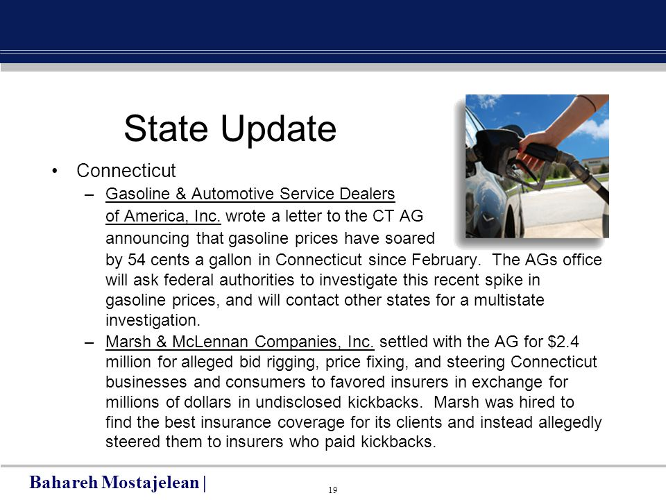 19 State Update Connecticut –Gasoline & Automotive Service Dealers of America, Inc.
