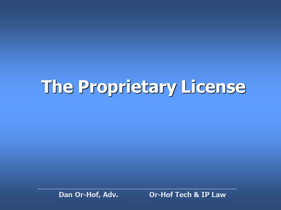 Can I sell OSS? ( not as in free beer ) Or-Hof Tech & IP Law Dan Or-Hof, Adv.
