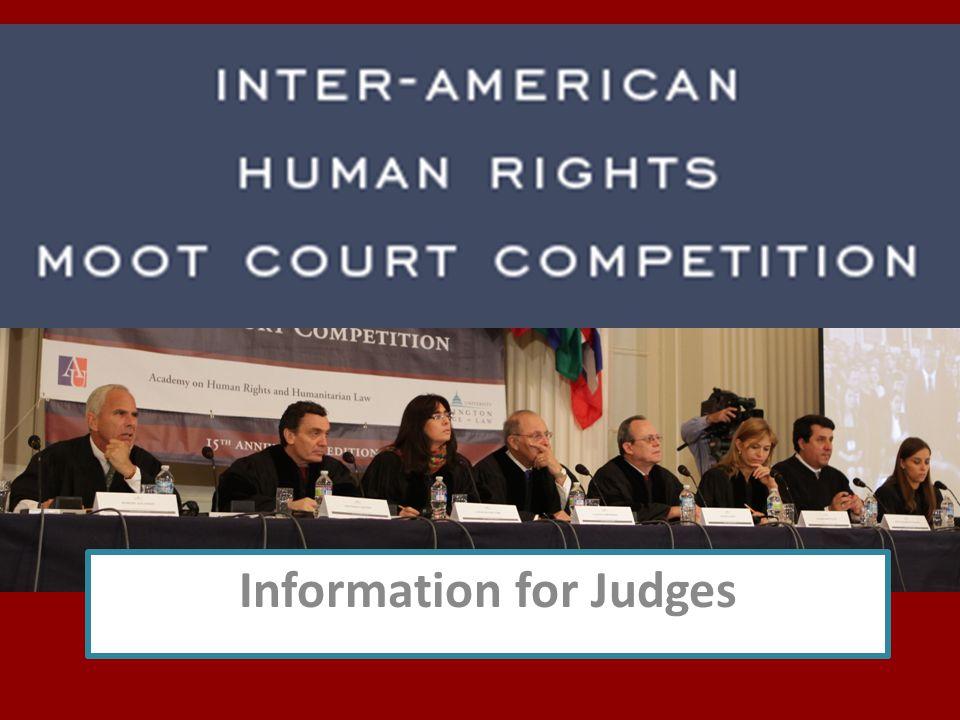 Information for Judges