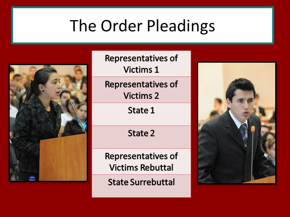The Order Pleadings
