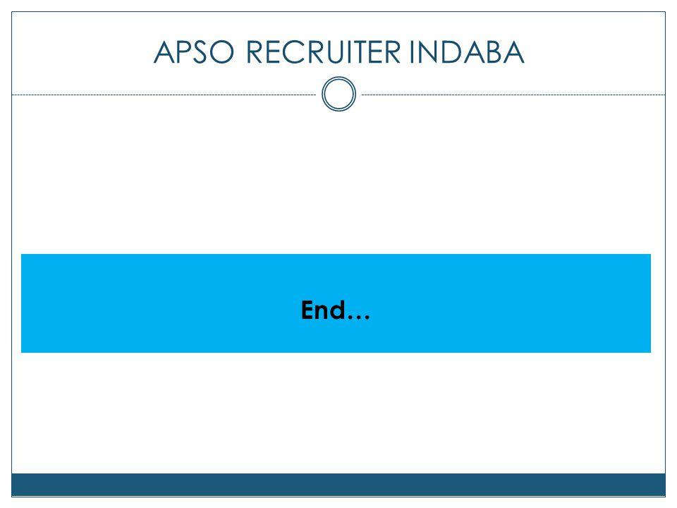 APSO RECRUITER INDABA End…