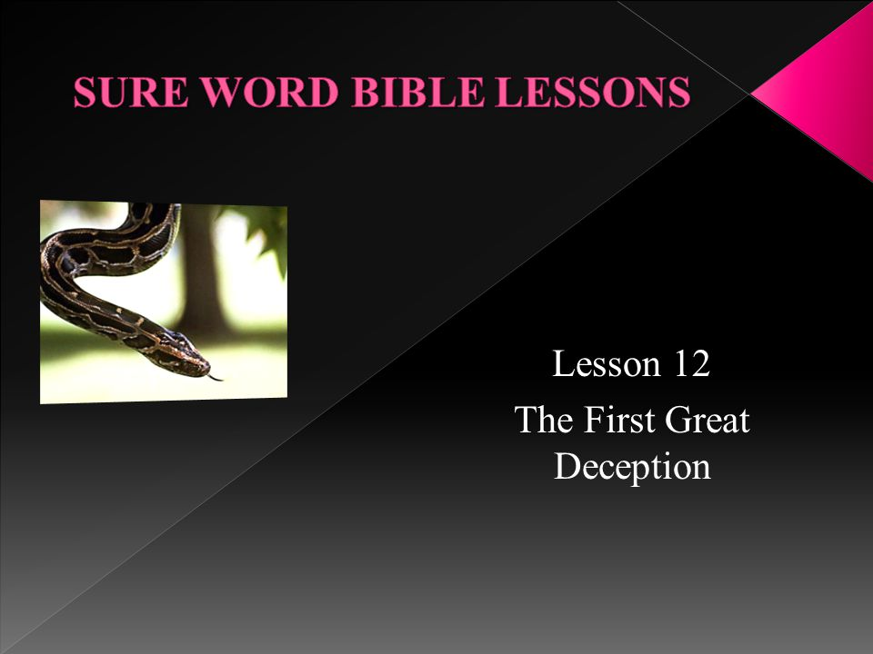 Lesson 12 The First Great Deception