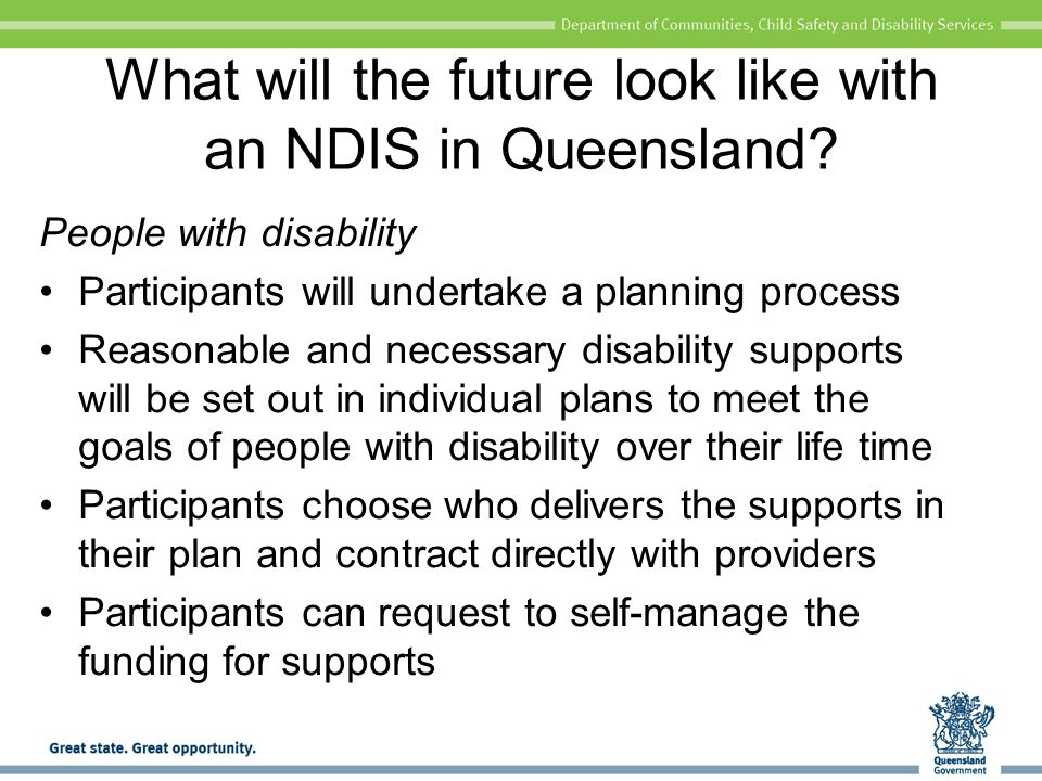 What will the future look like with an NDIS in Queensland.