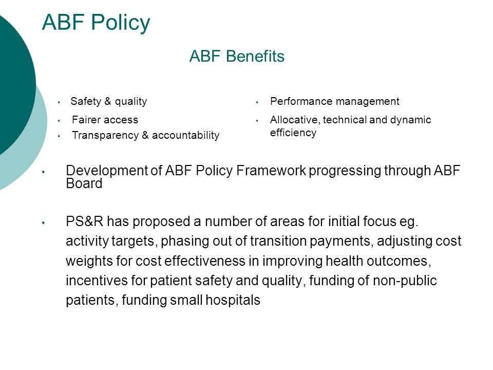 Purchasing Framework Contracting & procurement as mechanisms to deliver improved health care services for Queensland Purchasing cycle to be based on effective health needs assessment Specifying outcomes not inputs Balancing incentives and interventions Purchasing framework now incorporated into Draft QH Compliance Framework Elements in 2011/12: Relative utilisation; Adverse events; Clinical capability; Ambulatory service model; Potentially avoidable and out of scope admissions; Modality; Own source revenue; Indexed activity
