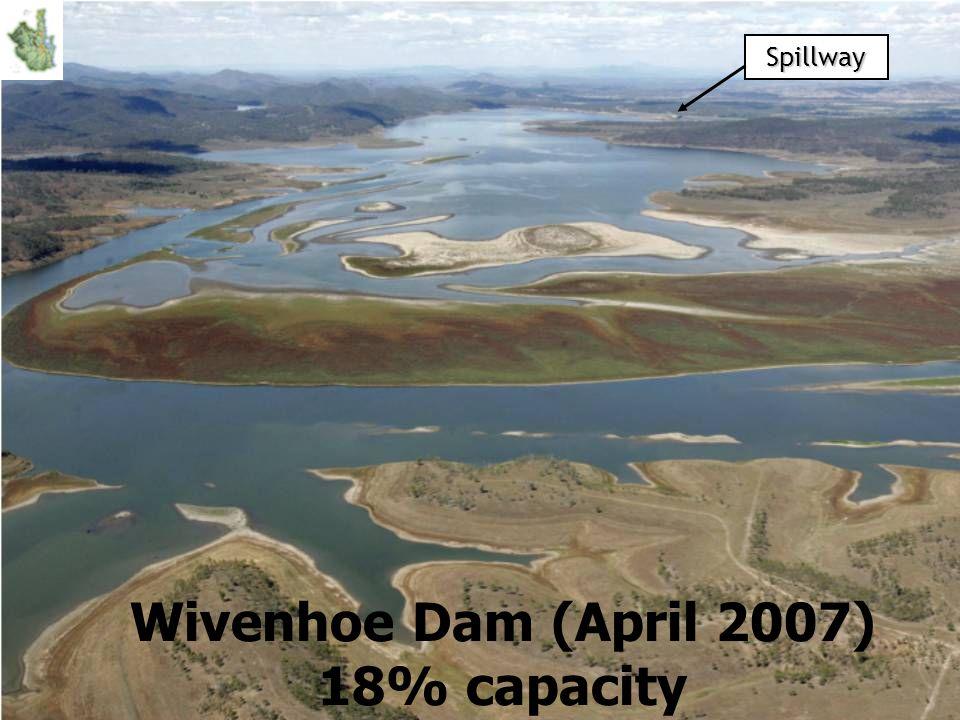 Spillway Wivenhoe Dam (April 2007) 18% capacity