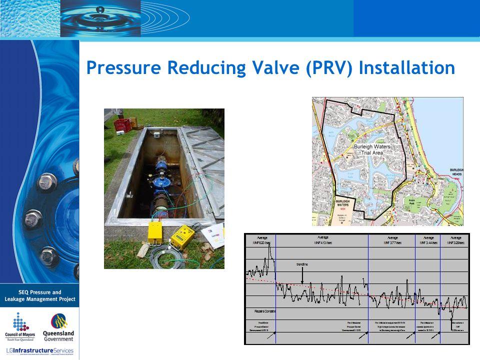 Pressure Reducing Valve (PRV) Installation
