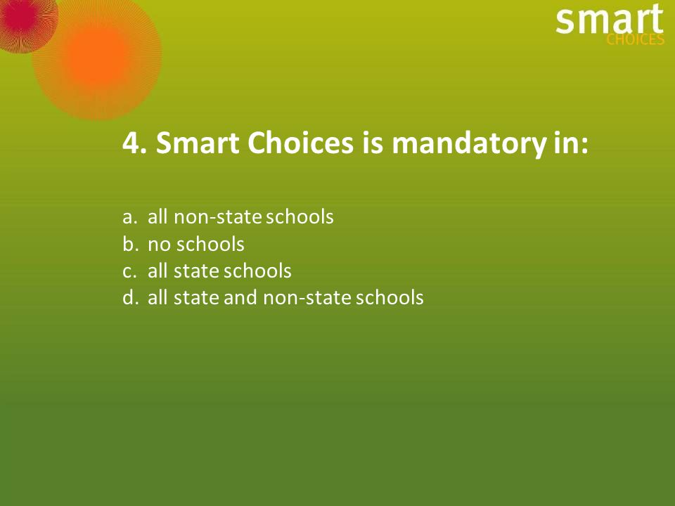 All confectionery is classified as RED under Smart Choices.