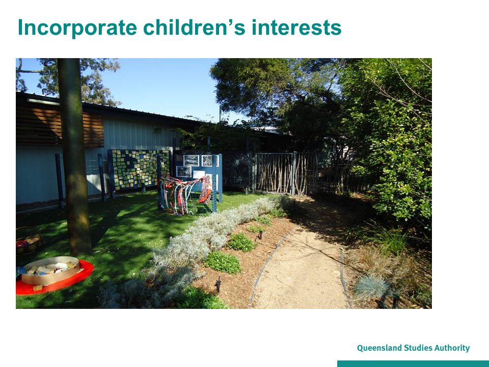 Incorporate children's interests
