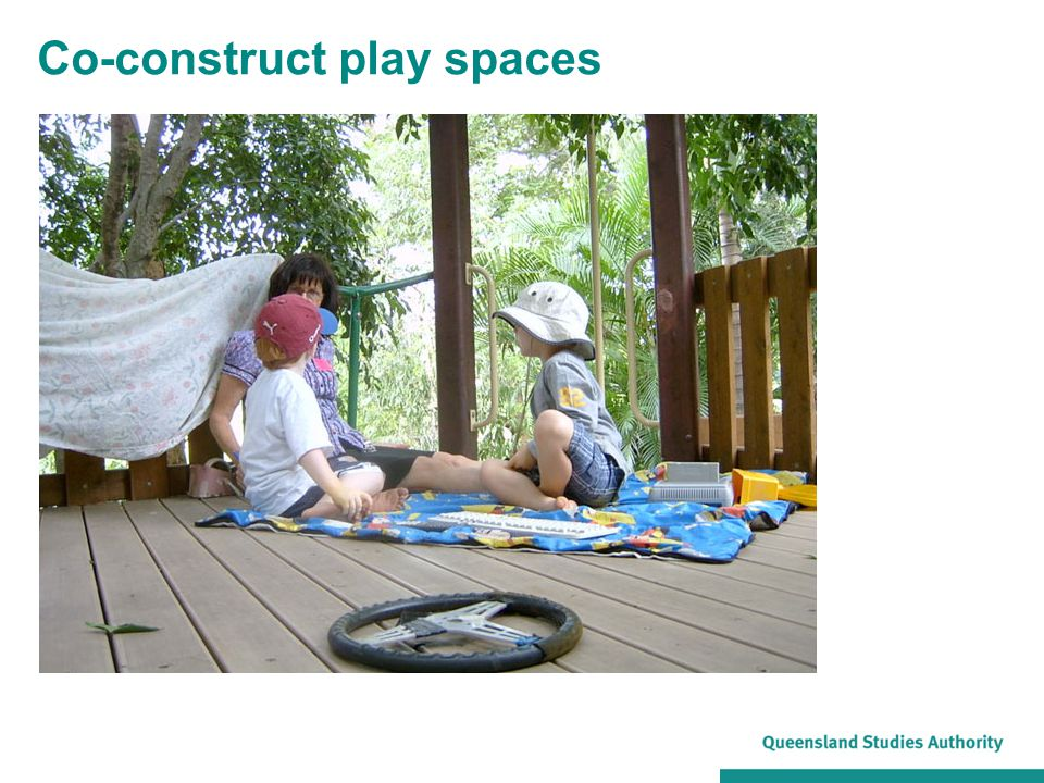 Co-construct play spaces