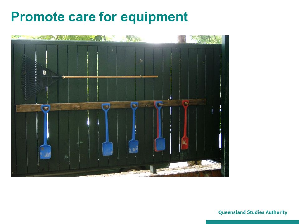 Promote care for equipment