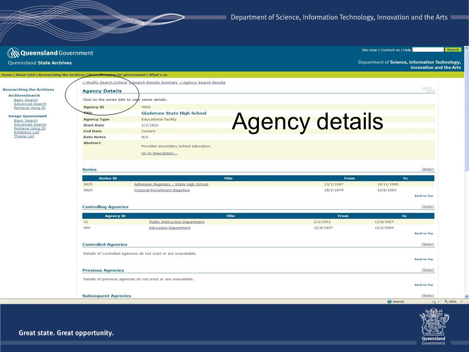 Agency details