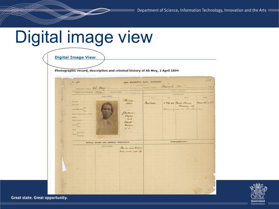 Digital image view