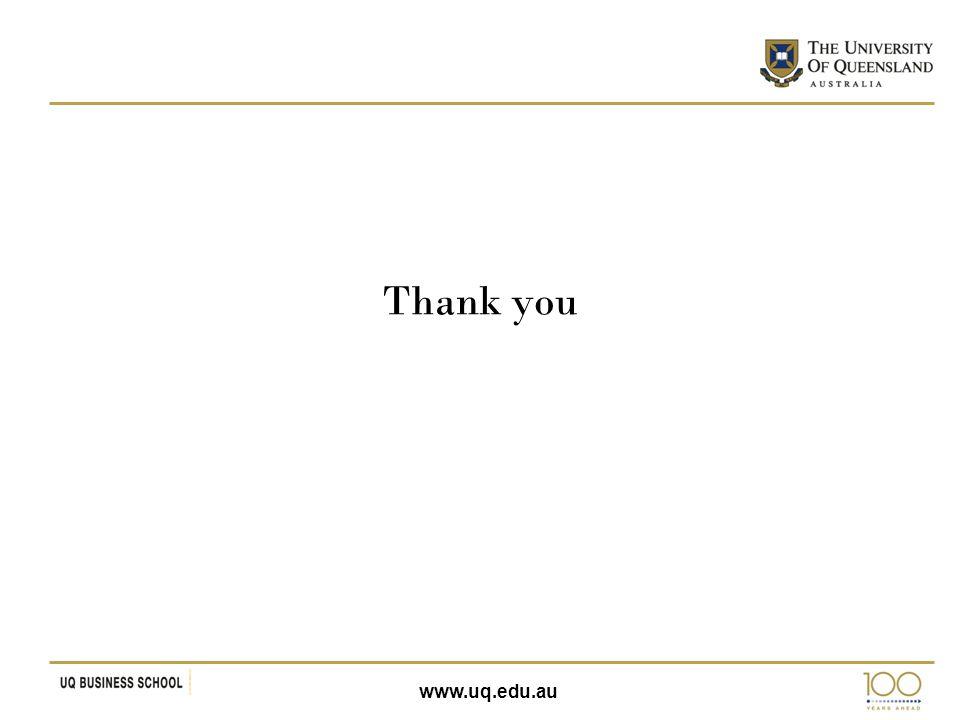 www.uq.edu.au Thank you