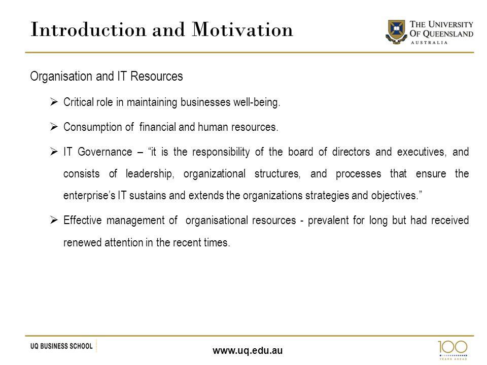 www.uq.edu.au Structural Model