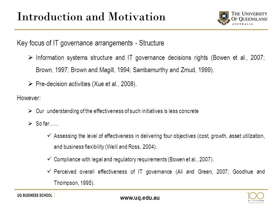 www.uq.edu.au The strategic necessity hypothesis.
