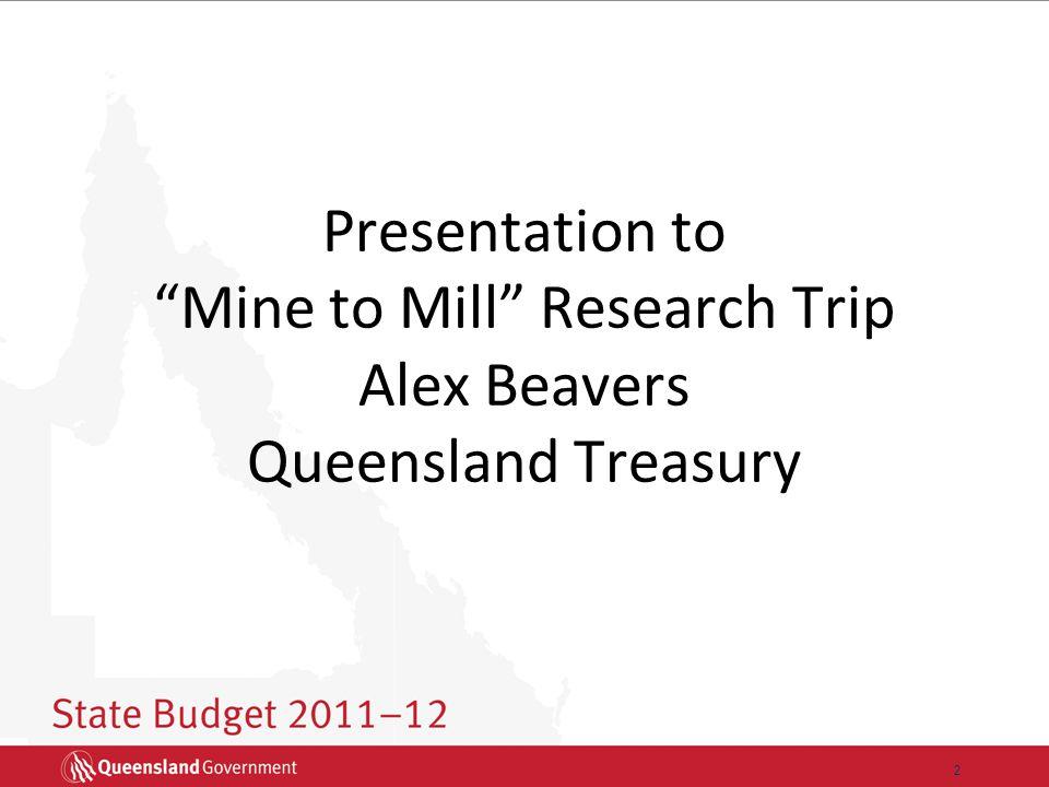 13 Queensland's state infrastructure spending