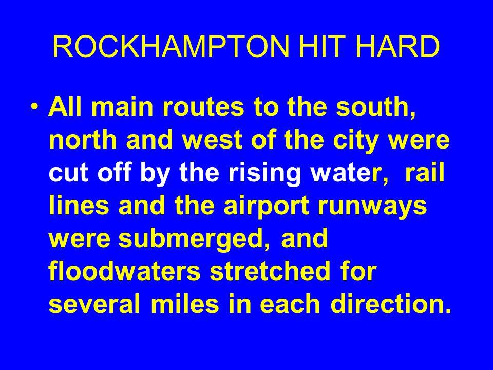 ROCKHAMPTON BECAME AN ISLAND:JANUARY 3, 2011