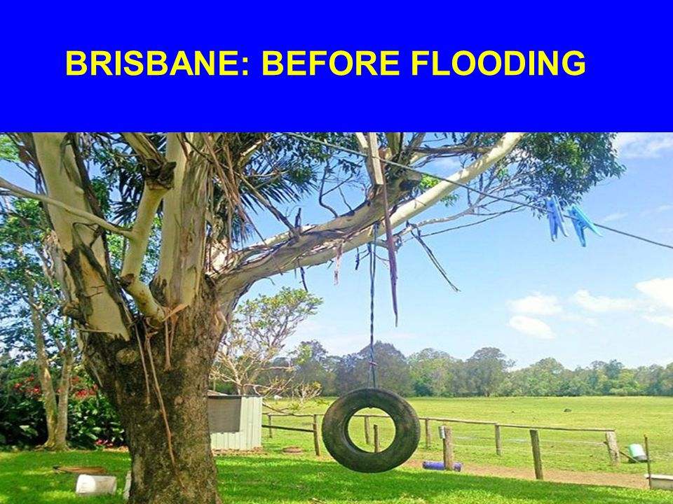 BRISBANE MORE than 50 suburbs were flooded as the Brisbane River rose to 4.5 m or more above flood stage, with some areas being completely inundated.