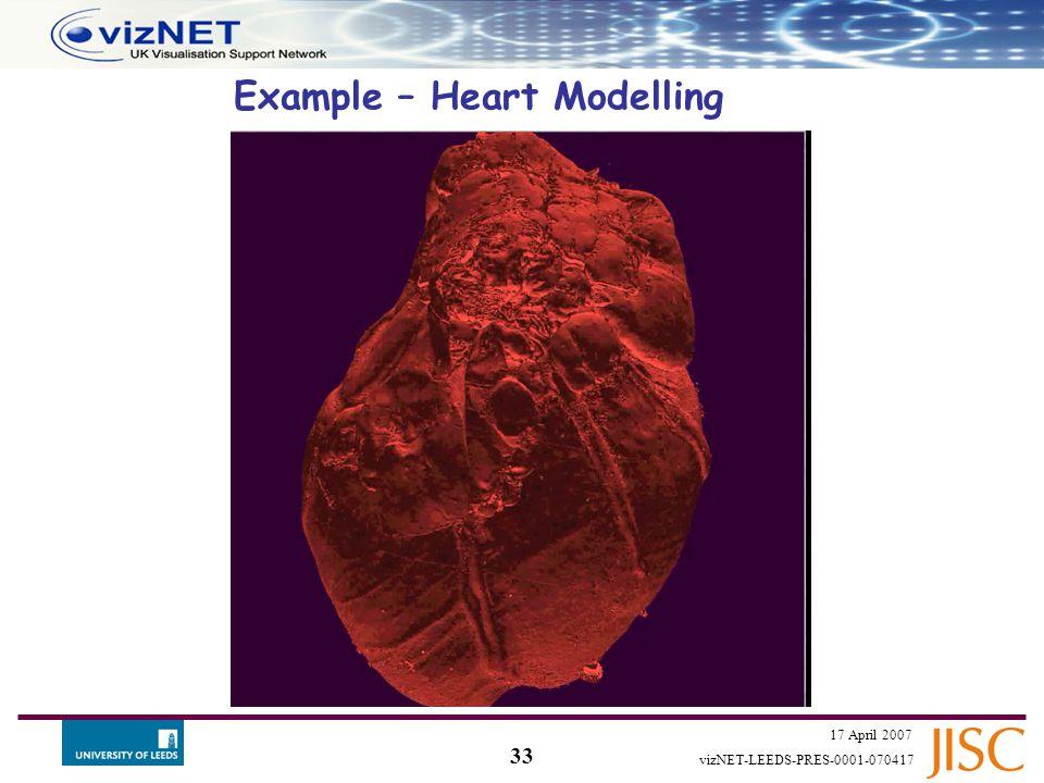 32 17 April 2007 vizNET-LEEDS-PRES-0001-070417 Example – medical application  Vertebrae… ..