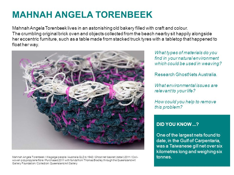 MAHNAH ANGELA TORENBEEK Mahnah Angela Torenbeek lives in an astonishing old bakery filled with craft and colour.