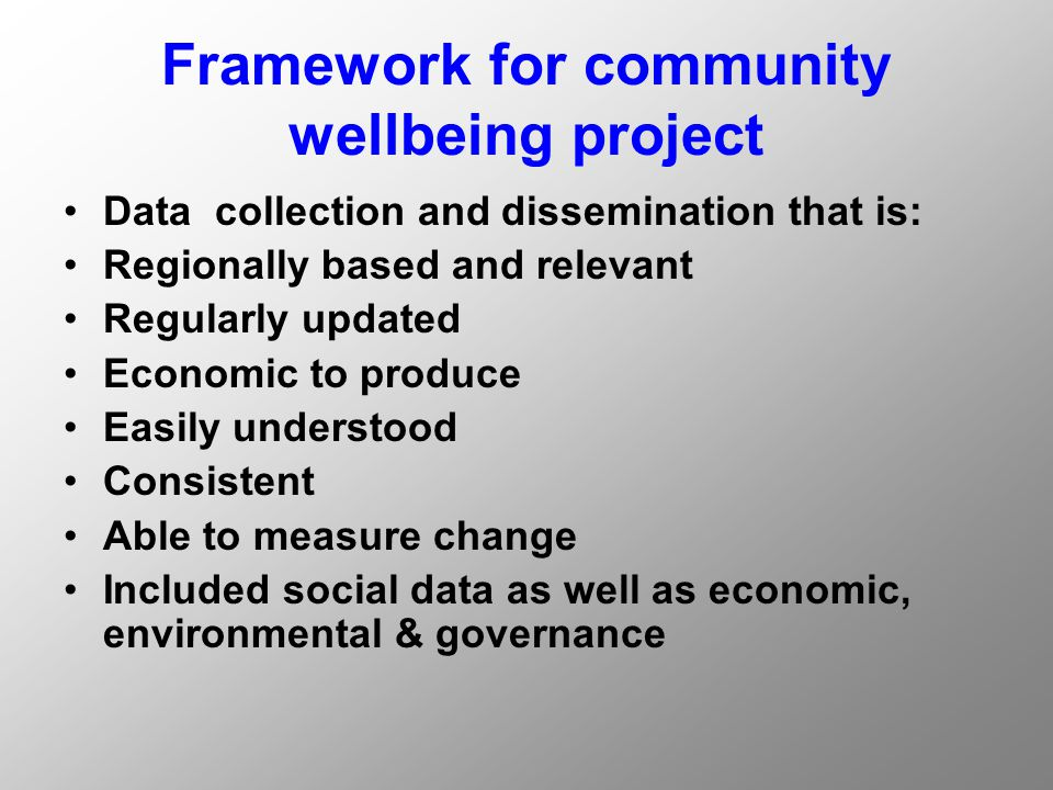 CQANM Project Aims Providing a decision making framework which ensures complementary actions by the Australian, State and local governments and the private and community sectors to create desirable long term growth and development objectives and avoid duplication and inefficient use of resources.