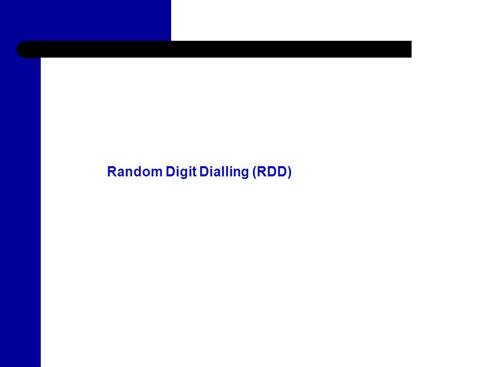 6 Random Digit Dialling (RDD)
