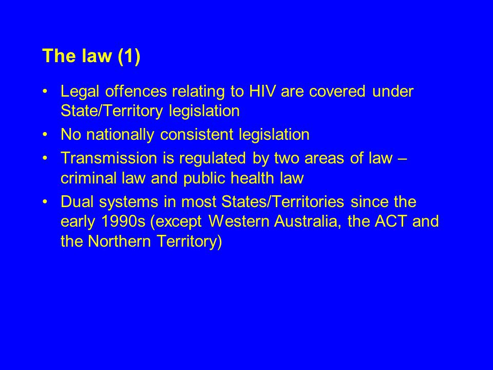 Disclosure NSW law requires that any person who is suffering from a sexually transmissible condition must disclose their status to any potential sexual partner Tasmania is the only other State in Australia that applies a similar disclosure requirement.