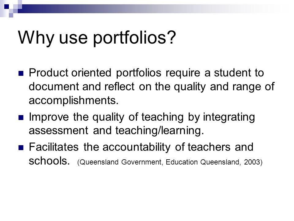 Why use portfolios.