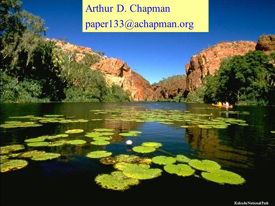 Arthur D. Chapman paper133@achapman.org Kakadu National Park
