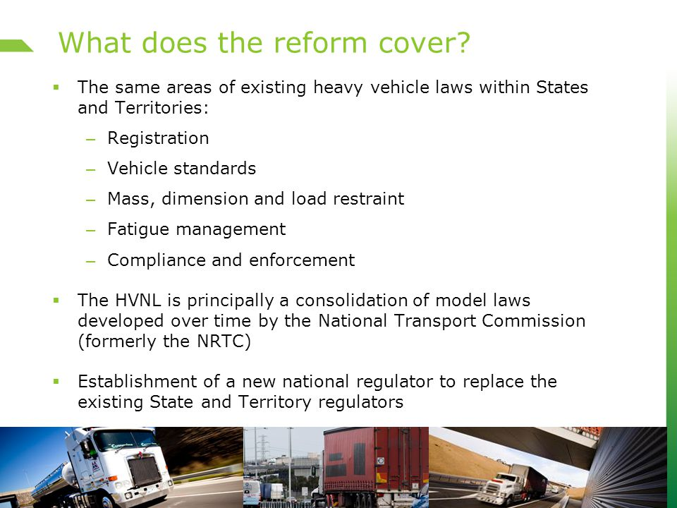 What does the reform cover.