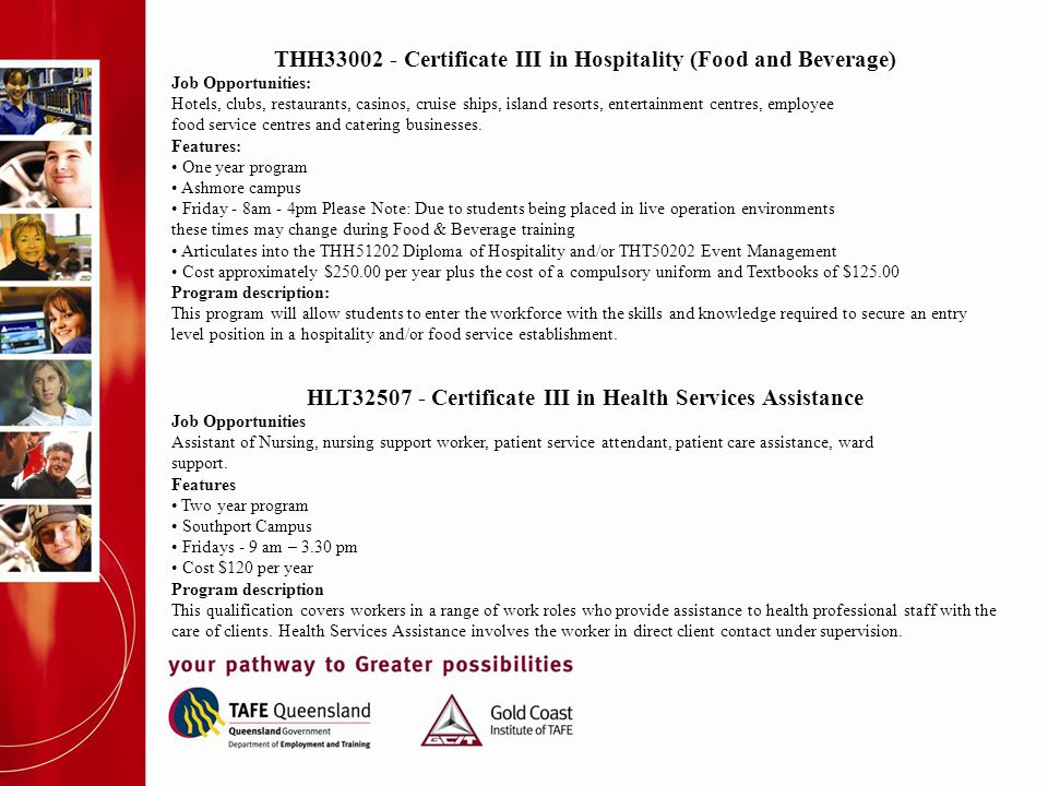HLT32507 - Certificate III in Health Services Assistance Job Opportunities Assistant of Nursing, nursing support worker, patient service attendant, pa