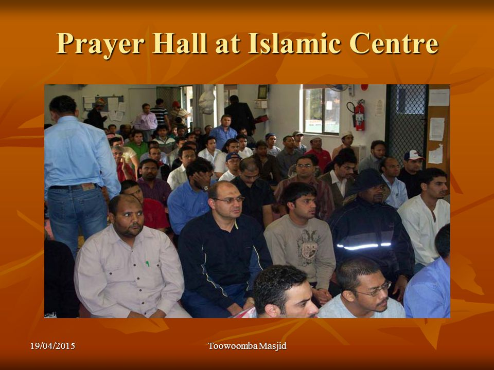 Prayer Hall at Islamic Centre 19/04/2015Toowoomba Masjid