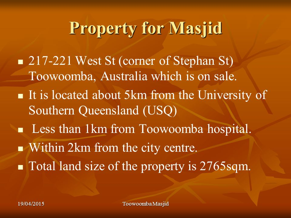 Property for Masjid 217-221 West St (corner of Stephan St) Toowoomba, Australia which is on sale.