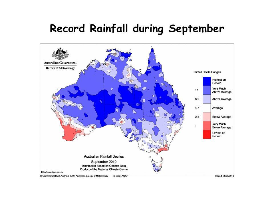 Record Rainfall during September