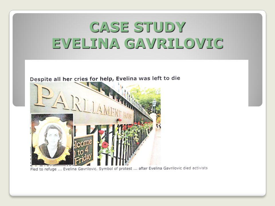 CASE STUDY EVELINA GAVRILOVIC
