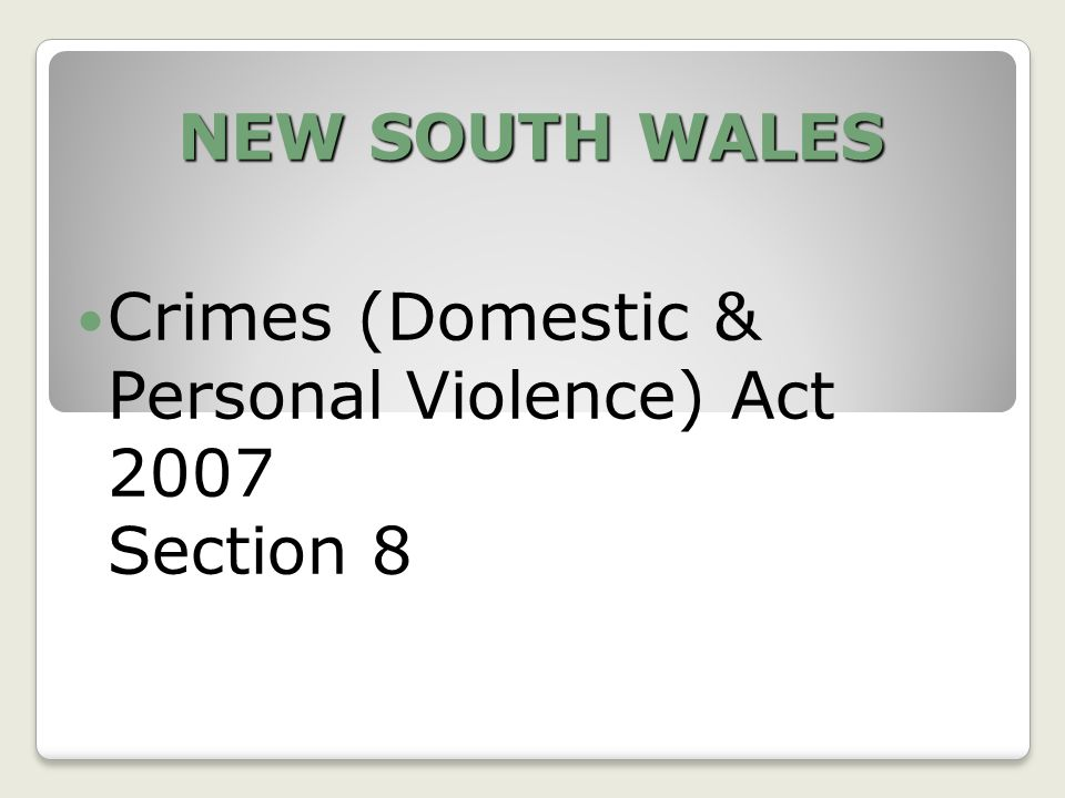 SOUTH AUSTRALIA Criminal Law Consolidation Act 1935 Division 5 Stalking Section 19AA Unlawful Stalking