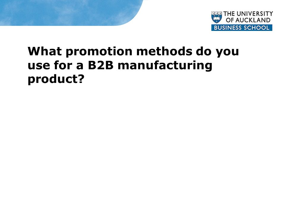 What promotion methods do you use for a B2B manufacturing product? Simon Bottomley, General Manager, HaveStock Manufacturing