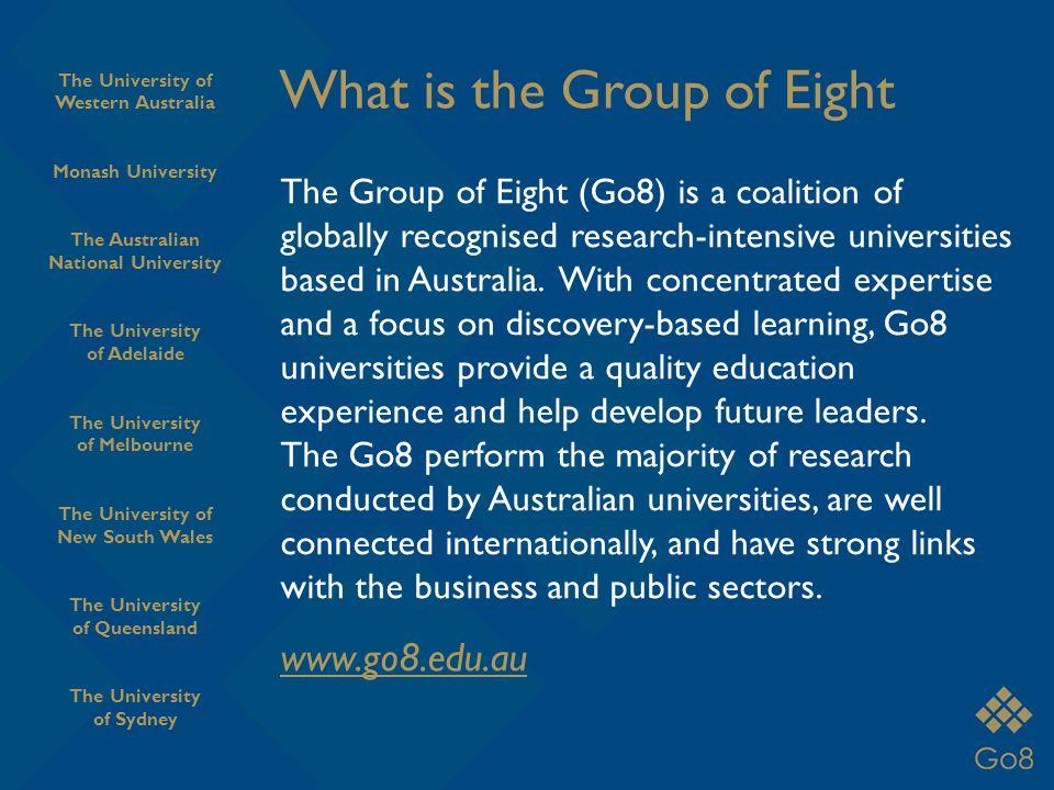 Monash University Go8 Member Universities