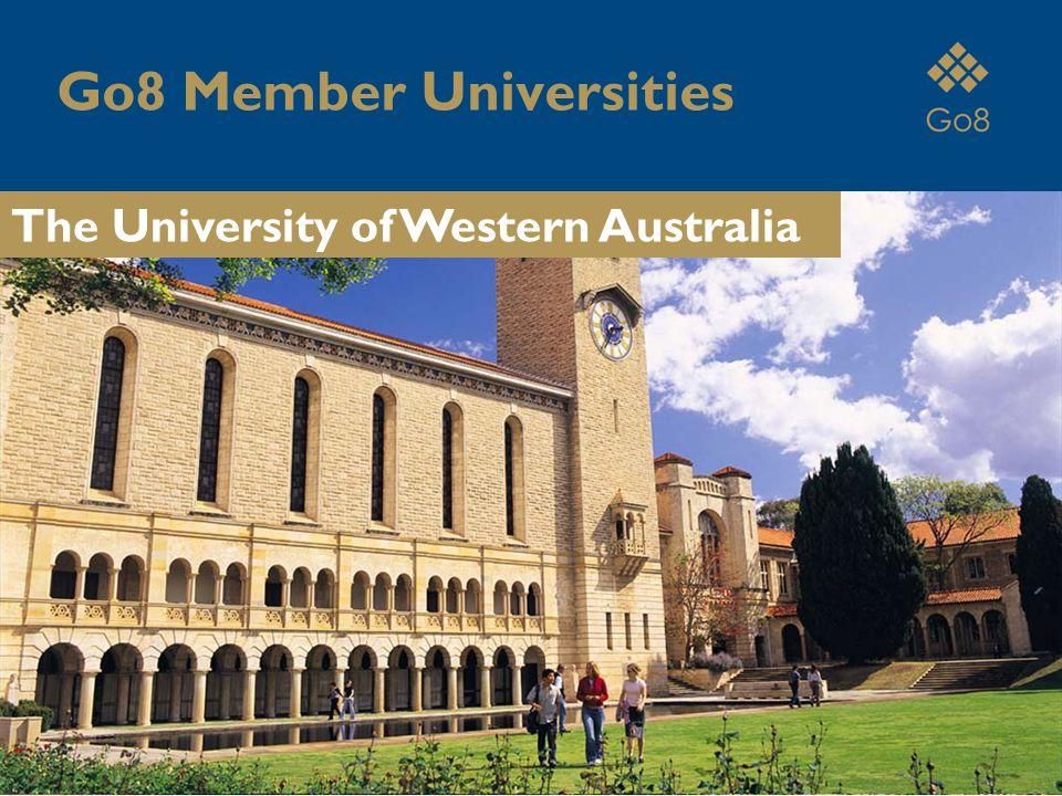 Go8 Member Universities The University of Western Australia