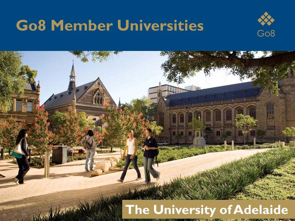 The University of Adelaide Go8 Member Universities