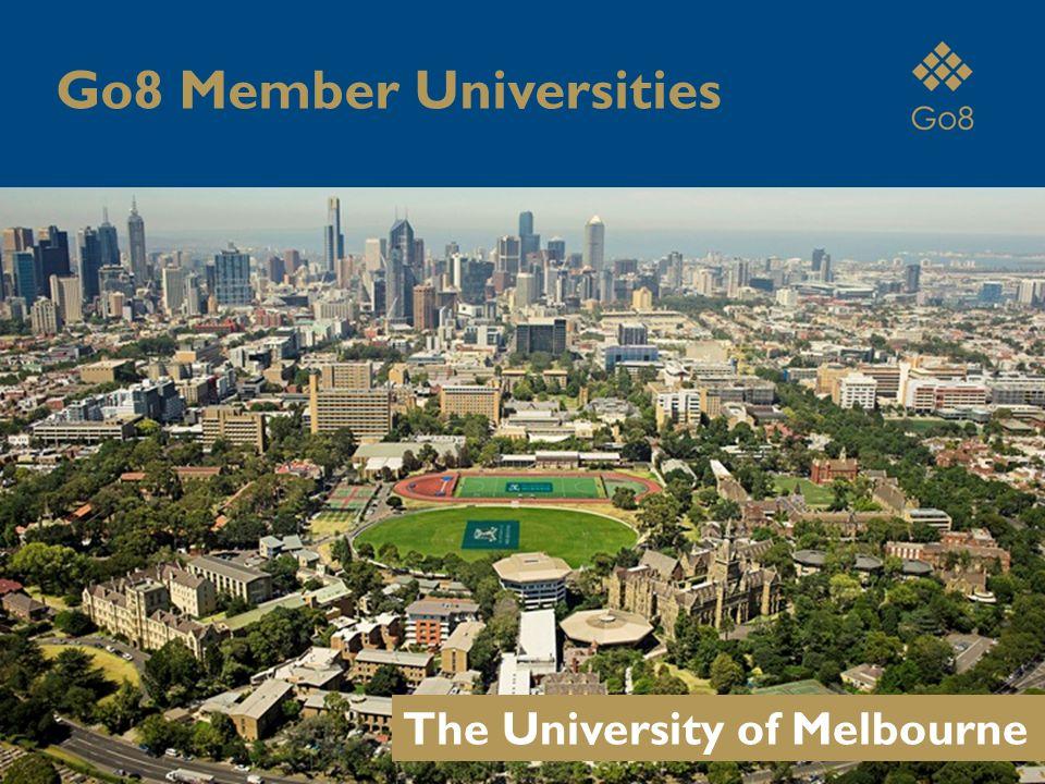 The University of Melbourne Go8 Member Universities