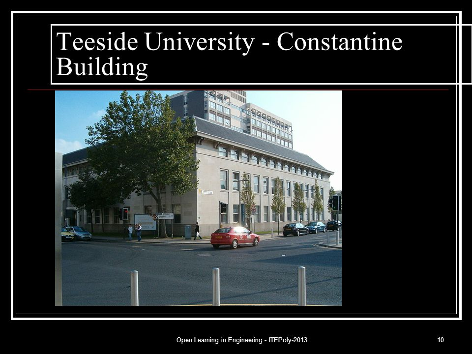 Open Learning in Engineering - ITEPoly-201310 Teeside University - Constantine Building