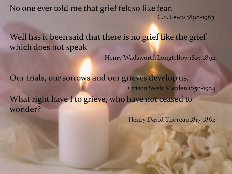 The Journey Through Loss What do we know about Grief and Grieving???